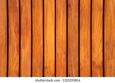 Horizontal or vertical of wood planks deck texture wallpaper background in brown color