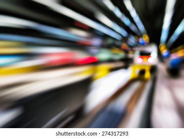 Horizontal vivid abstract motion train station transportation background backdrop