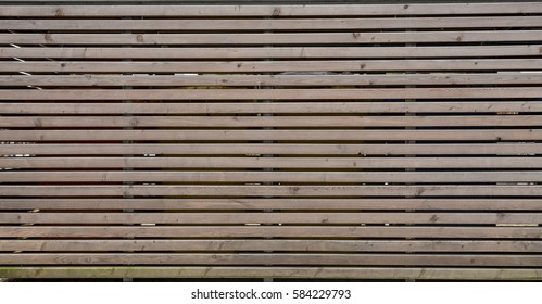 Horizontal Wooden Bars Wall, Background