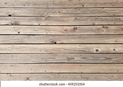 Horizontal Wooden Planks Deck Texture Background