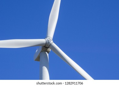 horizontal-axis wind turbine closeup