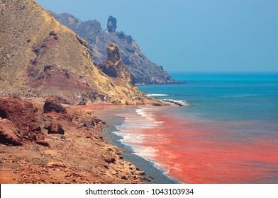 Hormuz Island Coast in Iran