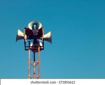 Horn speaker vintage for public, megaphone vintage