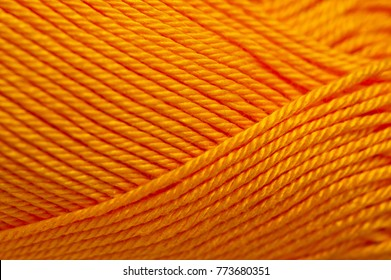 Horn yarn for knitting yellow-orange bright color