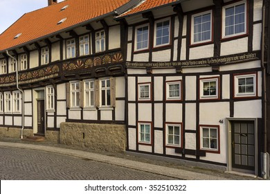 Hornburg, Germany - December 12, 2015: Street view of Hornburg, a old medieval town in Lower Saxony located on the German Timber-Frame Road.