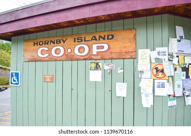 Hornby Island, Canada - FEBRUARY 10, 2016: Co-Op Store on Hornby Island