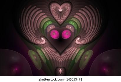 Hornies. Computer generated fractal artwork.