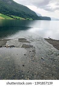 Hornindal Lake, Hornindalsvatnet, Hornindal, Nordfjord, Norway