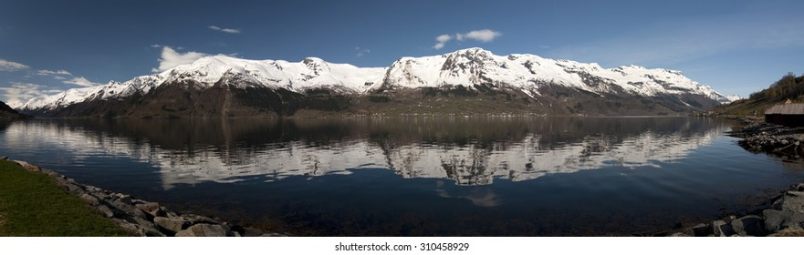 Hornindalsvatnet / Hornindalsvatnet is Norway's and Europe's deepest lake, officially measured to a depth of 514 metres