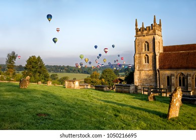 Horningsham, Wiltshire, UK - September 18, 2016: Longleat Sky Safari hot air balloon festival