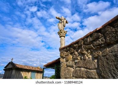 Horreo in Combarro Galician village of Pontevedra Galicia Spain