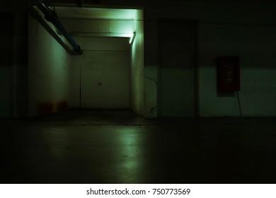 A horror haunted basement
