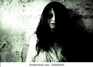 Horror scary woman