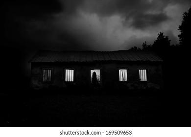 Horror Scene - Abandoned Horror House