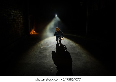 Girl Silhouette Scary Images, Stock Photos & Vectors