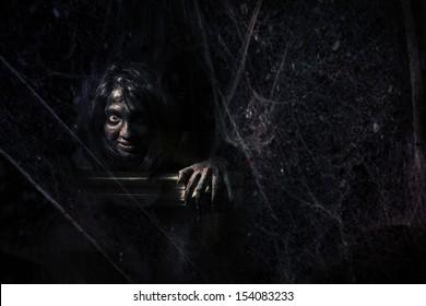 Horror Scene of a Woman.