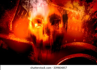 Horror Skull Part 2,Horror Background For Halloween Concept And Movie Poster Project