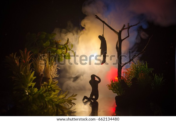 Horror View Hanged Girl On Tree Stock Photo (Edit Now) 662134480