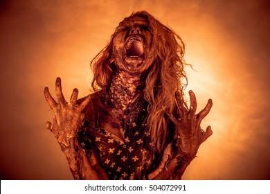 Horror zombies. Apocalypse.