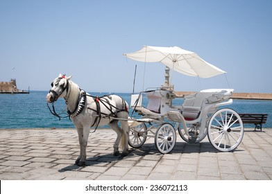 Horse carriage in Crete, Greece