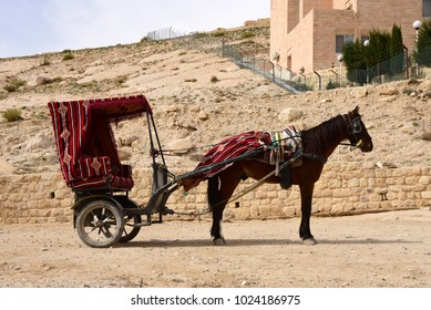 A horse Carriage in Petra, Jordan, Middle East.