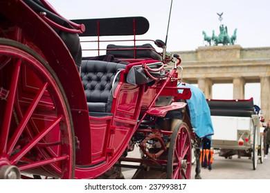 Horse cart near the Brandenburg Gate in Berlin, Germany