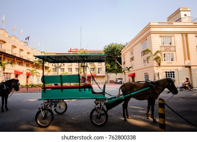 Horse drawn carriage in front of Intramuros, Manila, Philippines.