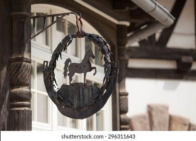 horse farm, horse stable -detail- matal