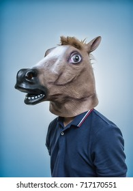 Horse Head Mask Portraiture