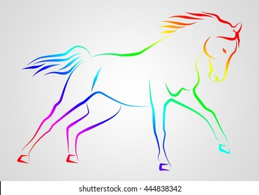 Horse illustration icon art design