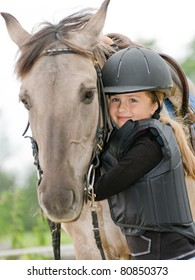 Horse and jockey - little girl and her best friend