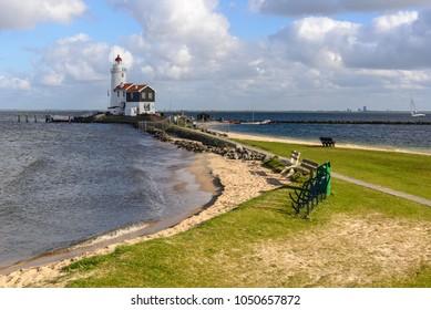 The Horse of Marken lighthouse, The Netherlands