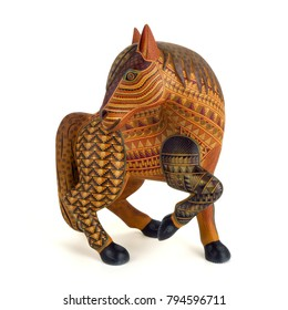 Horse Oaxacan alebrije wood carving art sculpture