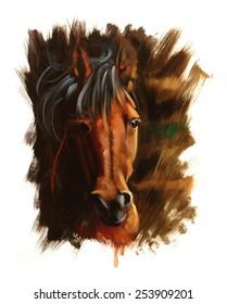 Horse passion Portrait painting