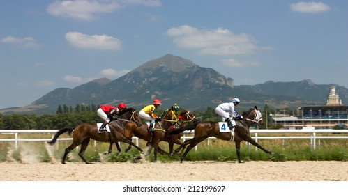 Horse race for the prize Volgi,Russia.