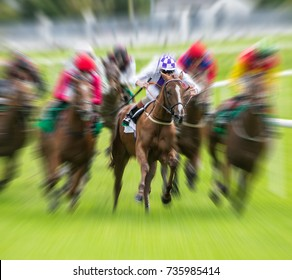 Horse race speed motion blur effect