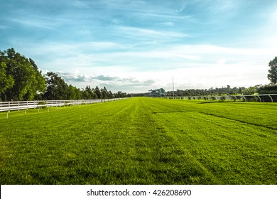 Horse racecourse field in Melbourne
