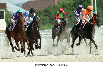 Horse race.Hippodrome in Pyatigorsk,Northern Caucasus,Russia.