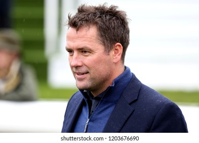 HORSE RACING - Former Professional & International Footballer, now racehorse breeder and owner Michael Owen at York Races :  Racecourse, York, Nth Yorkshire, UK : 12 October 2018