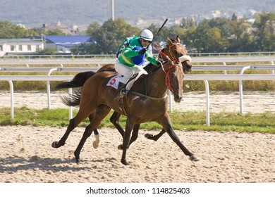 Horse racing in hippodrome Pyatigorsk,Northern Caucasus.