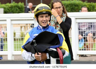 HORSE RACING - Jockey Marco Ghiani makes his UK riding debut at Nottingham Races : Colwick Park, Nottingham, UK : 17 August 2018 : Pic Mick Atkins