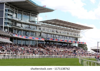 HORSE RACING - a packed Grandstand at York Races : York Racecourse, Nth Yorkshire, UK : 28 July 2018 : Pic Mick Atkins