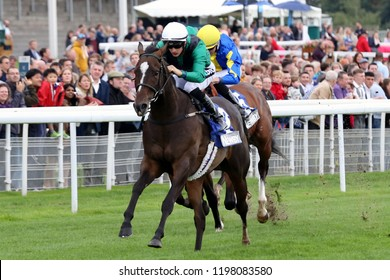 HORSE RACING - Racehorse Limato ridden by Harry Bentley Winning the £50,000 Listed Garrowby Stakes at York Races : York Racecourse, Nth Yorkshire, UK : 9 September 2018