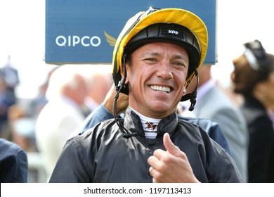HORSE RACING - A smiling Frankie Dettori in the Parade Ring at York Races : York Racecourse, North Yorkshire, UK : 24 August 2018