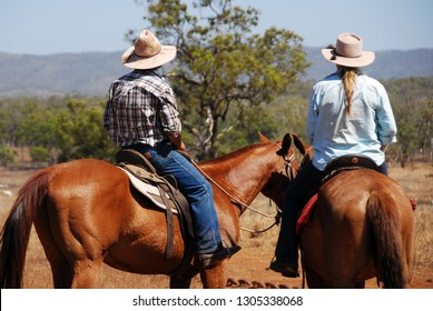 Horse riding in Australian outback