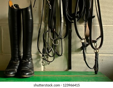 Horse Riding boots and tack