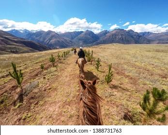 Horse Riding in Inca trail, Peru