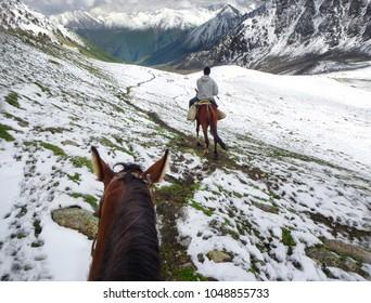 Horse riding in Kyrgyzstan, Tien Shan