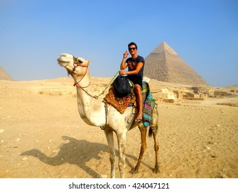 Horse riding at the pyramids