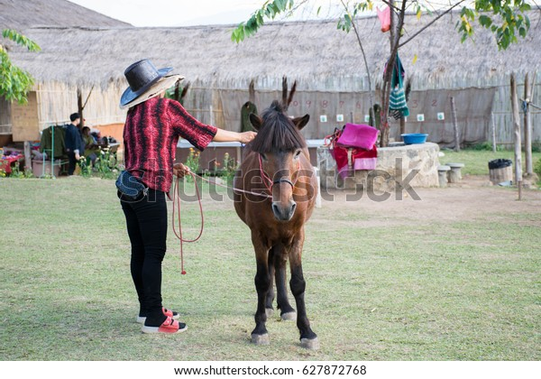 Horse Riding Rent Pai Thailand Stock Photo (Edit Now) 627872768